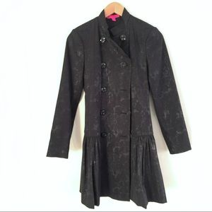 Betsey Johnson | Lace Overlay Fit and Flare Trench